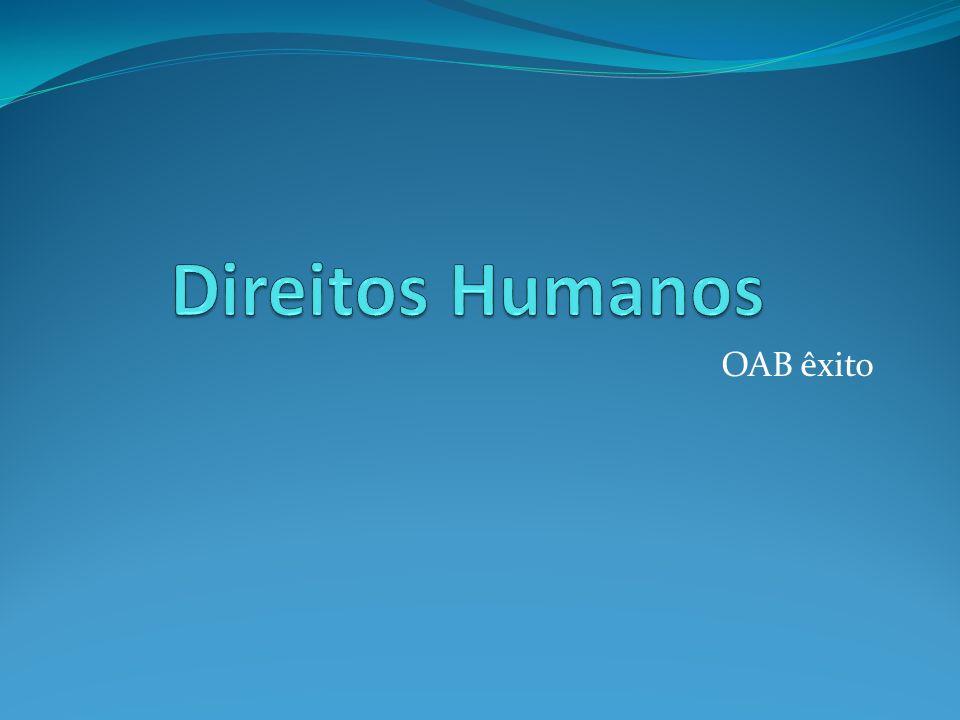 Direitos Humanos OAB êxito