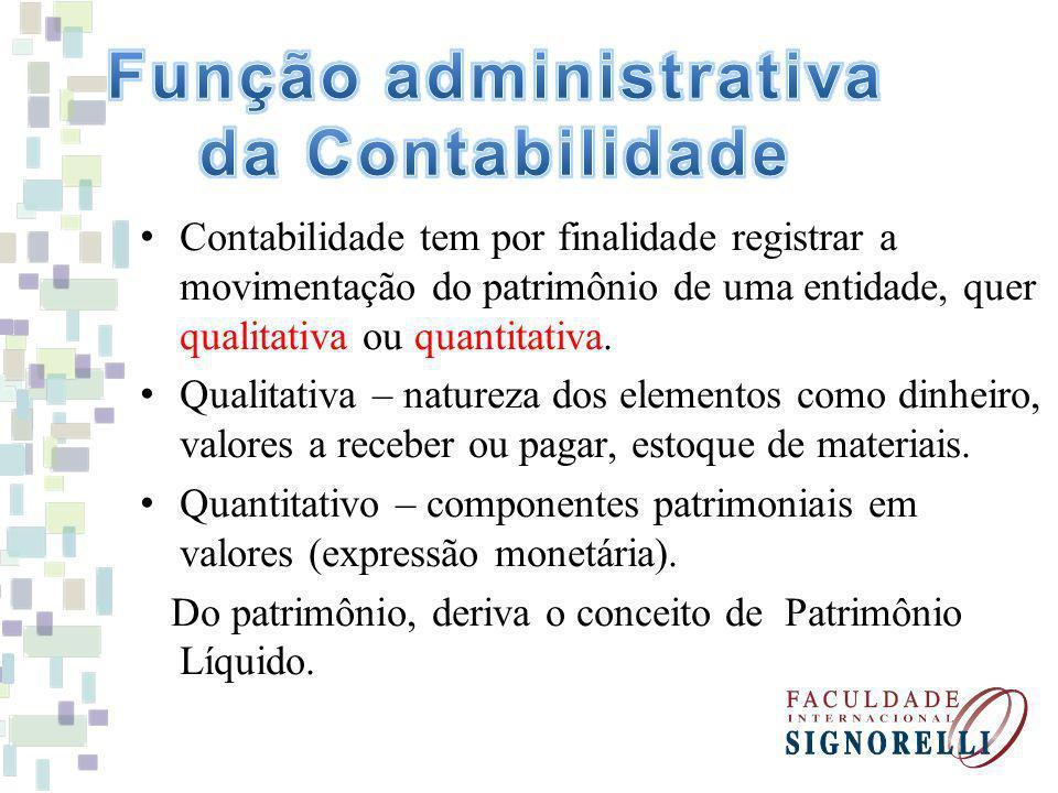 Função administrativa da Contabilidade