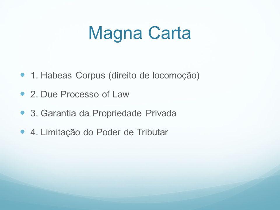 Magna Carta 1. Habeas Corpus (direito de locomoção)