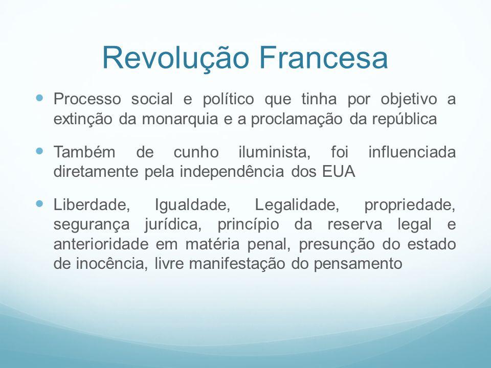 Revolução Francesa Processo social e político que tinha por objetivo a extinção da monarquia e a proclamação da república.