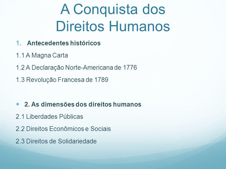 A Conquista dos Direitos Humanos