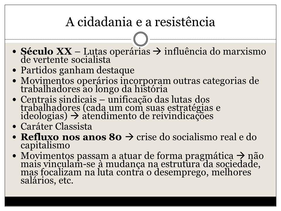 A cidadania e a resistência
