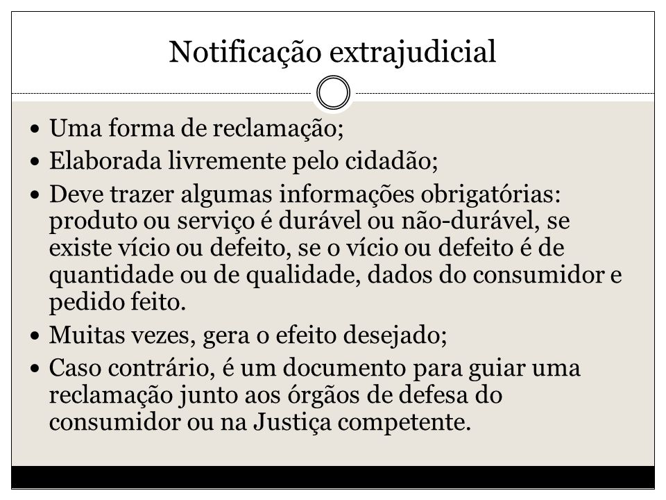 Notificação extrajudicial
