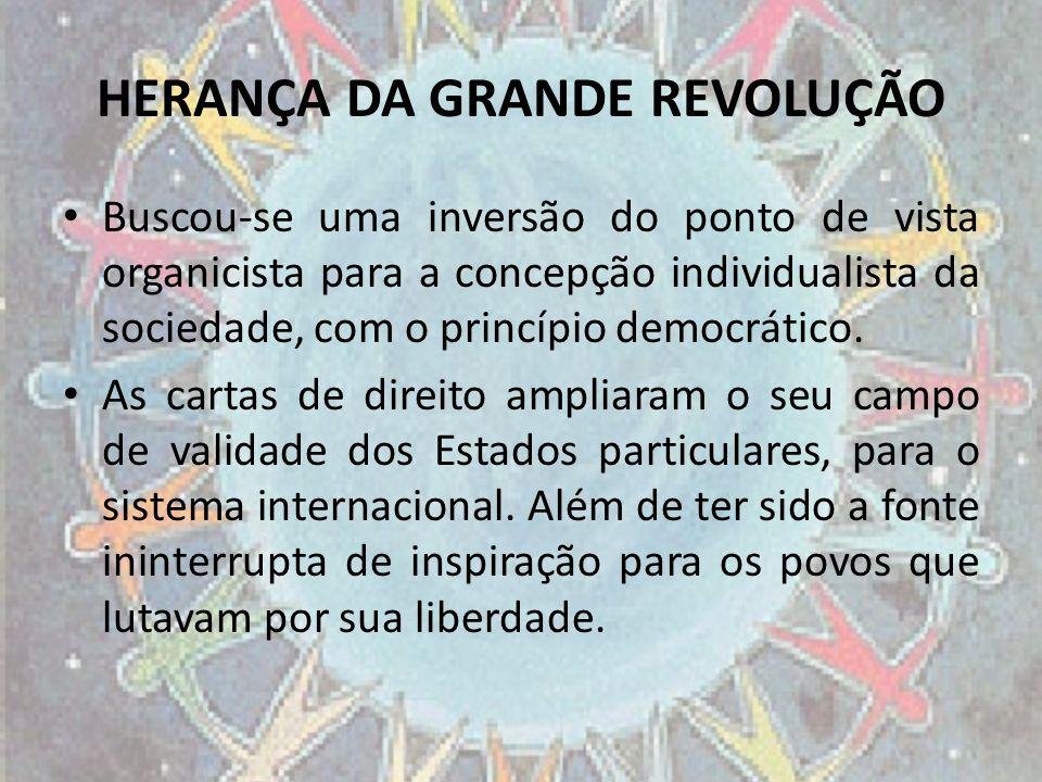 HERANÇA DA GRANDE REVOLUÇÃO