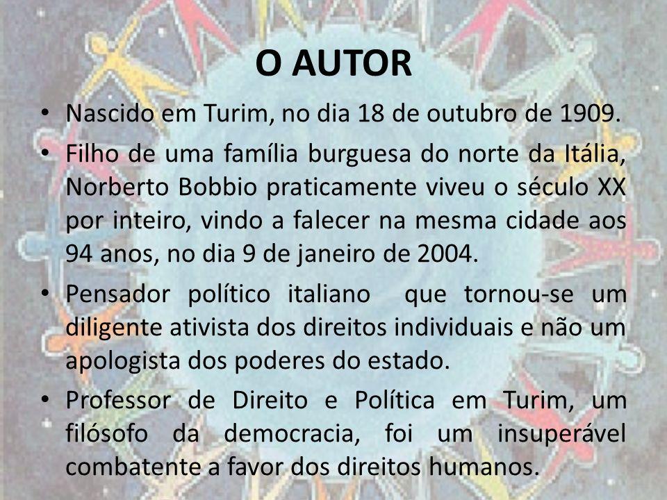O AUTOR Nascido em Turim, no dia 18 de outubro de 1909.