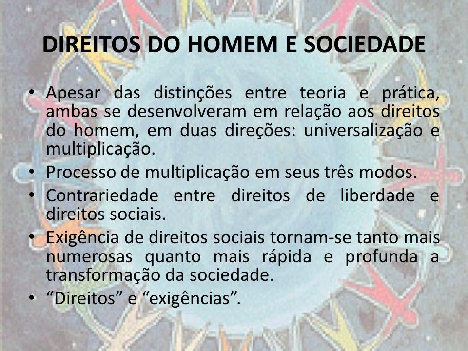 DIREITOS DO HOMEM E SOCIEDADE