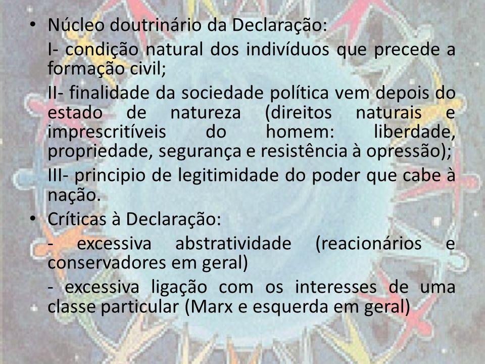 Núcleo doutrinário da Declaração: