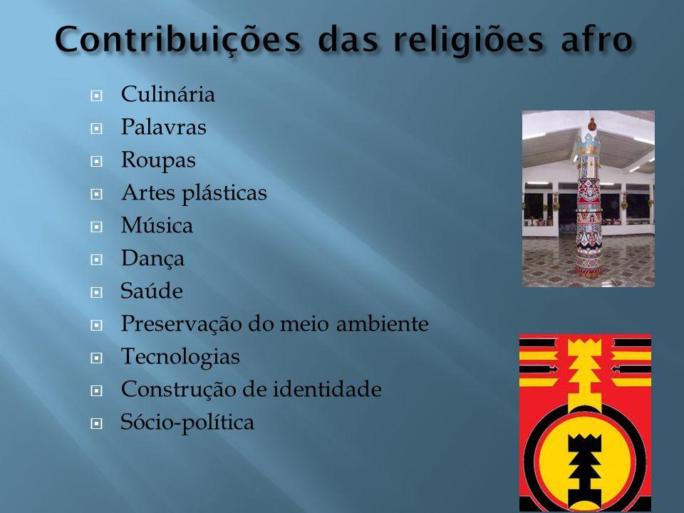 Contribuições das religiões afro