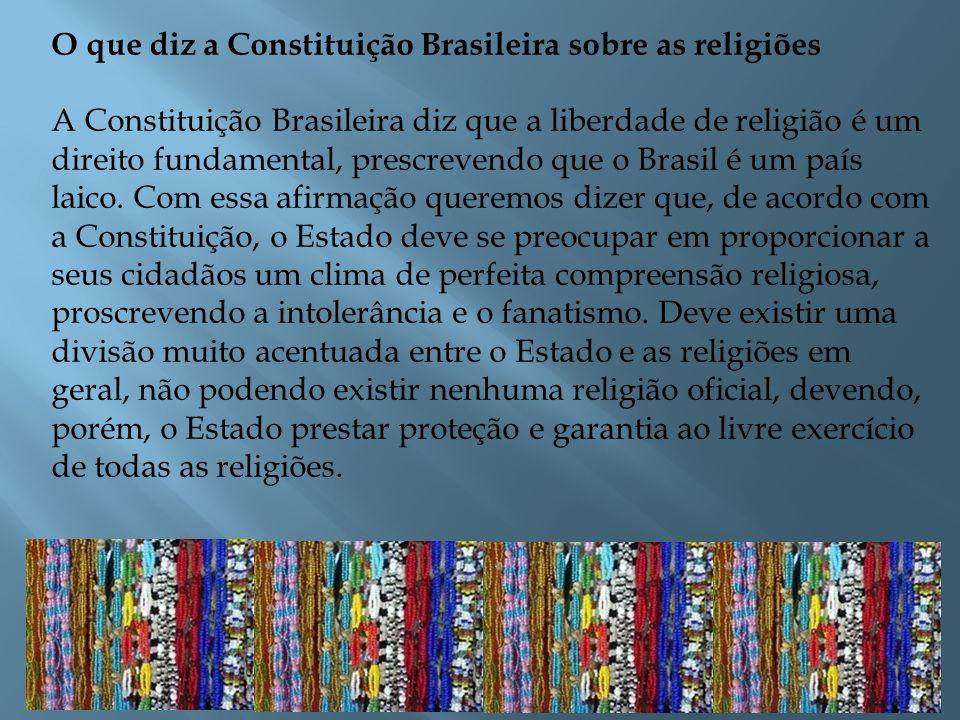 O que diz a Constituição Brasileira sobre as religiões