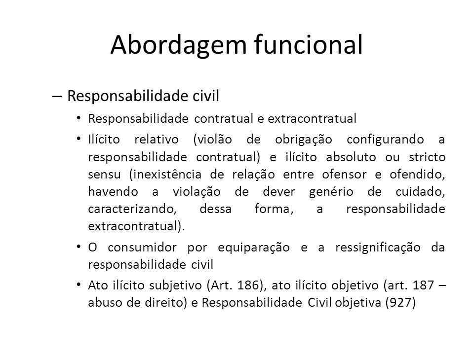 Abordagem funcional Responsabilidade civil