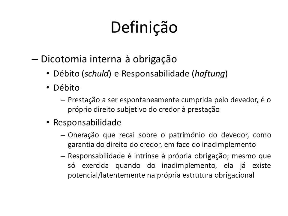 Definição Dicotomia interna à obrigação