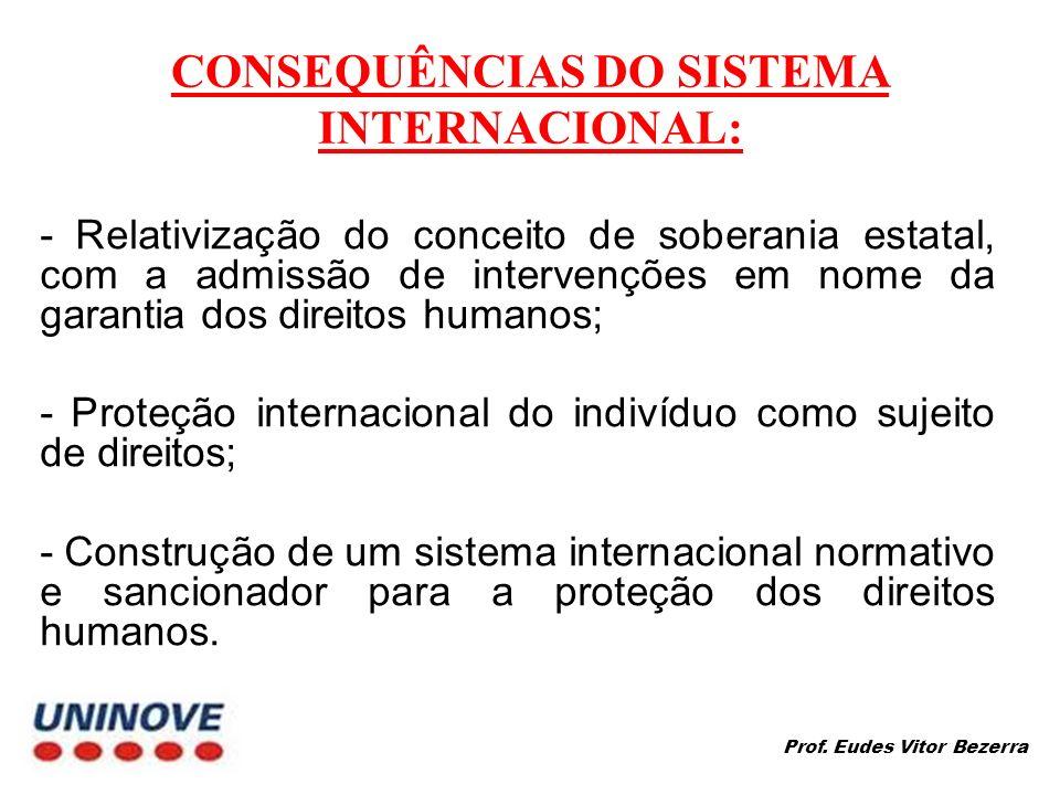 CONSEQUÊNCIAS DO SISTEMA INTERNACIONAL: