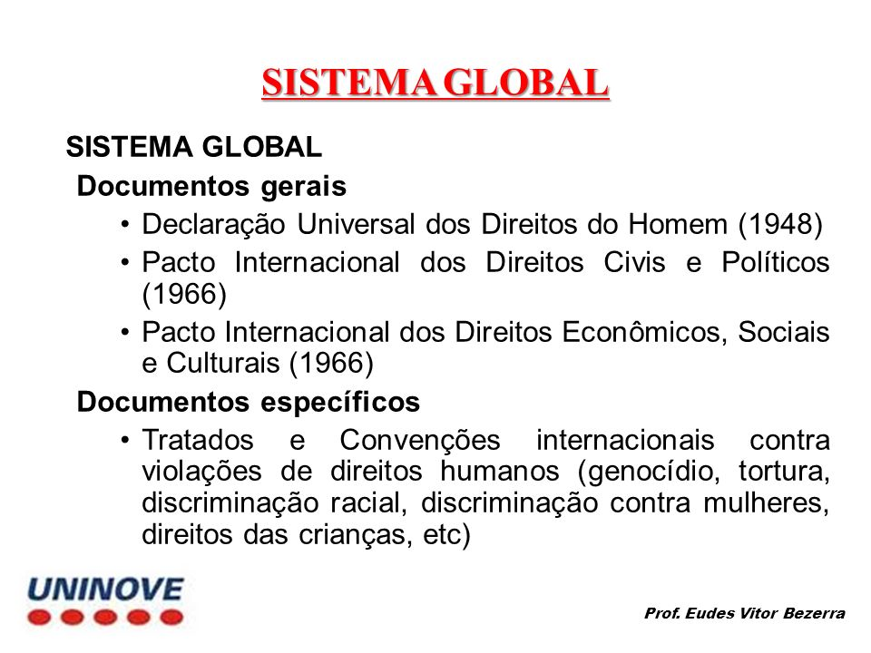 SISTEMA GLOBAL SISTEMA GLOBAL Documentos gerais