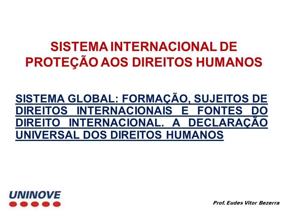 SISTEMA INTERNACIONAL DE PROTEÇÃO AOS DIREITOS HUMANOS