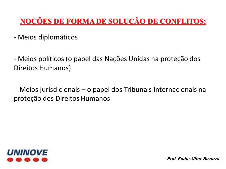 NOÇÕES DE FORMA DE SOLUÇÃO DE CONFLITOS: