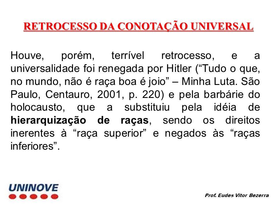 RETROCESSO DA CONOTAÇÃO UNIVERSAL