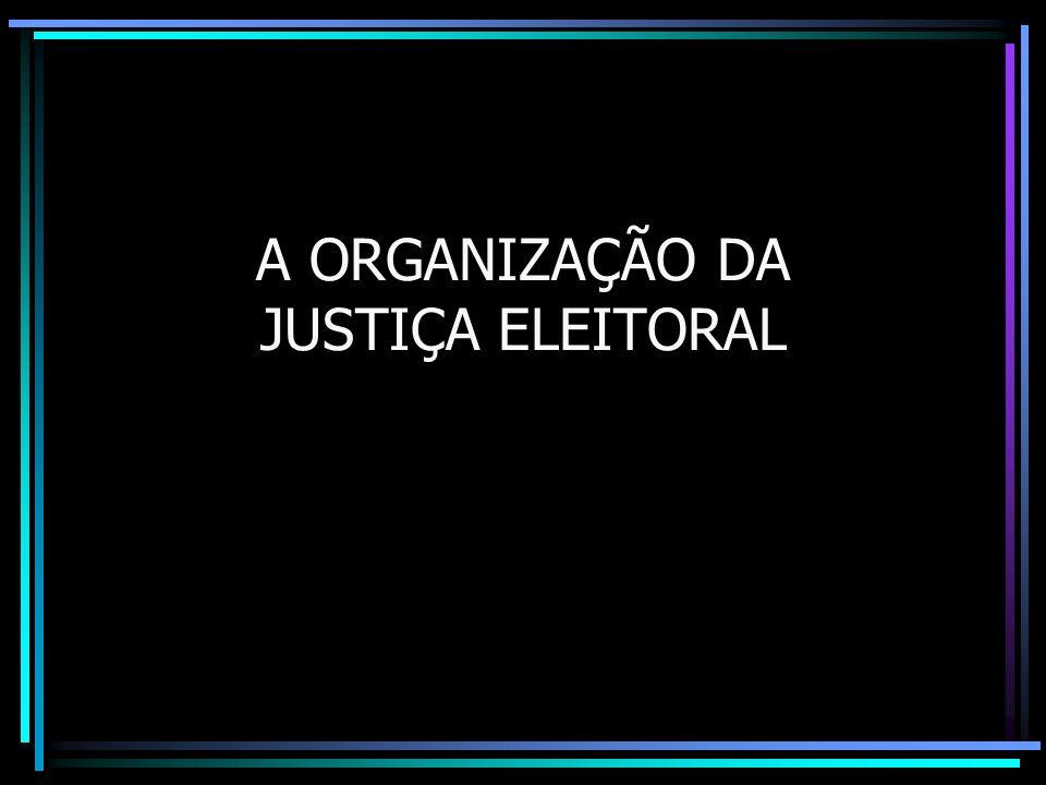A ORGANIZAÇÃO DA JUSTIÇA ELEITORAL