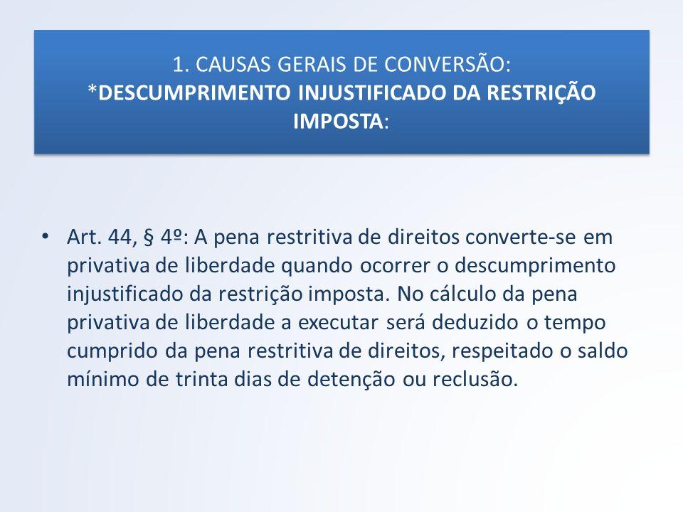 1. CAUSAS GERAIS DE CONVERSÃO: