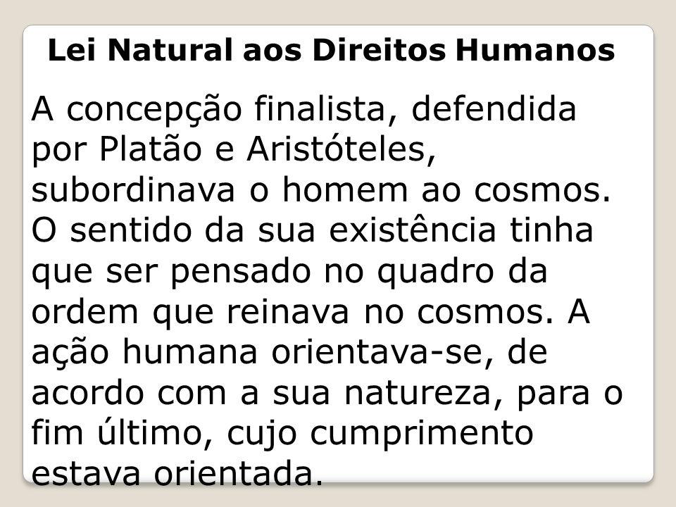 Lei Natural aos Direitos Humanos