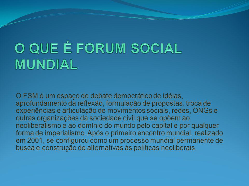 O QUE É FORUM SOCIAL MUNDIAL