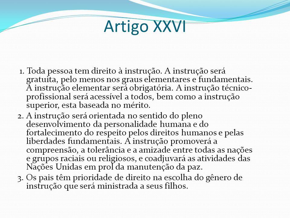 Artigo XXVI