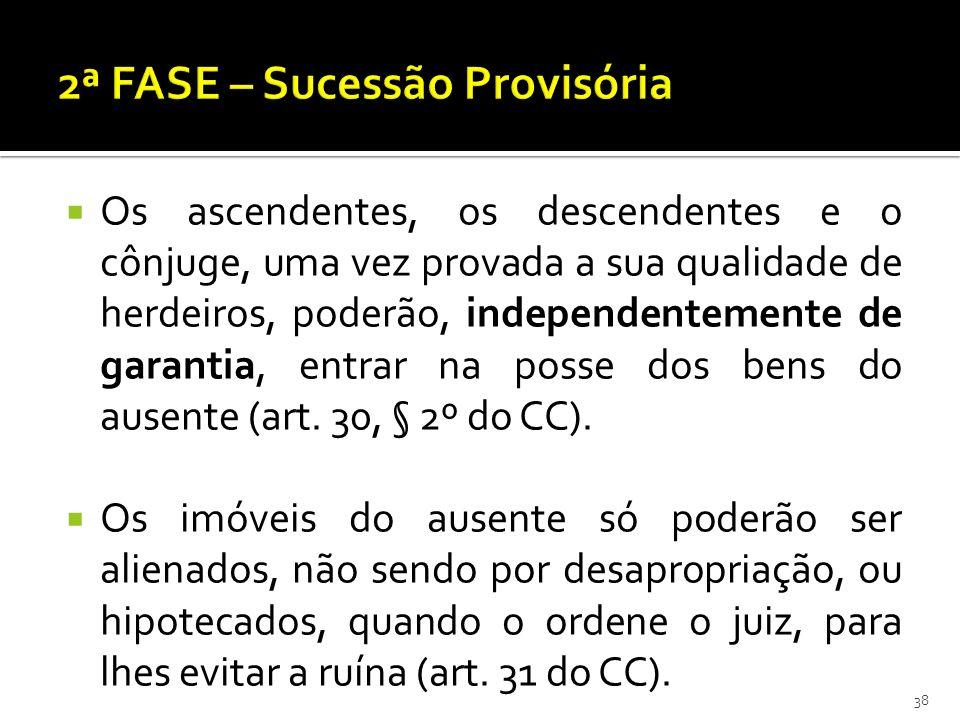 2ª FASE – Sucessão Provisória