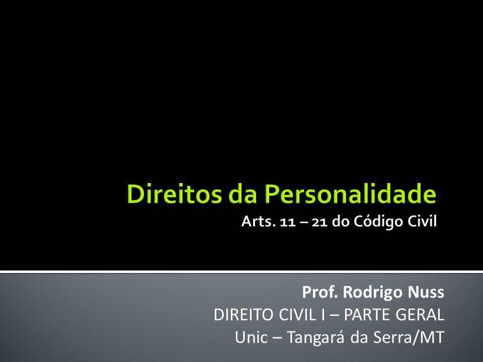 Direitos da Personalidade Arts. 11 – 21 do Código Civil