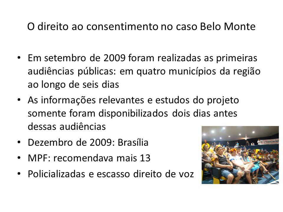 O direito ao consentimento no caso Belo Monte