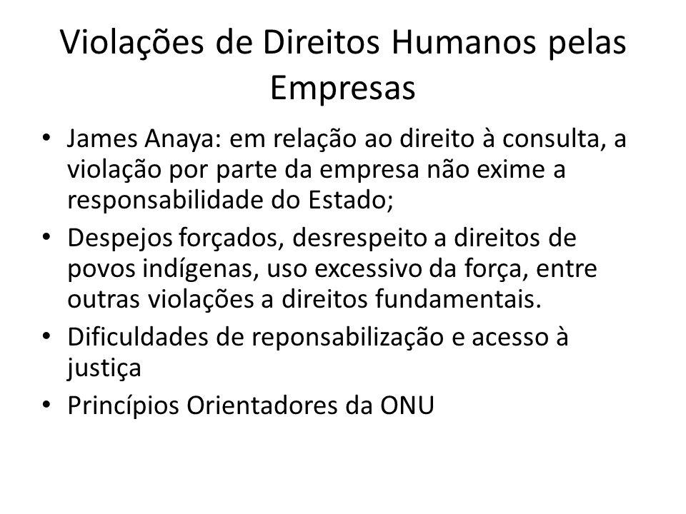 Violações de Direitos Humanos pelas Empresas