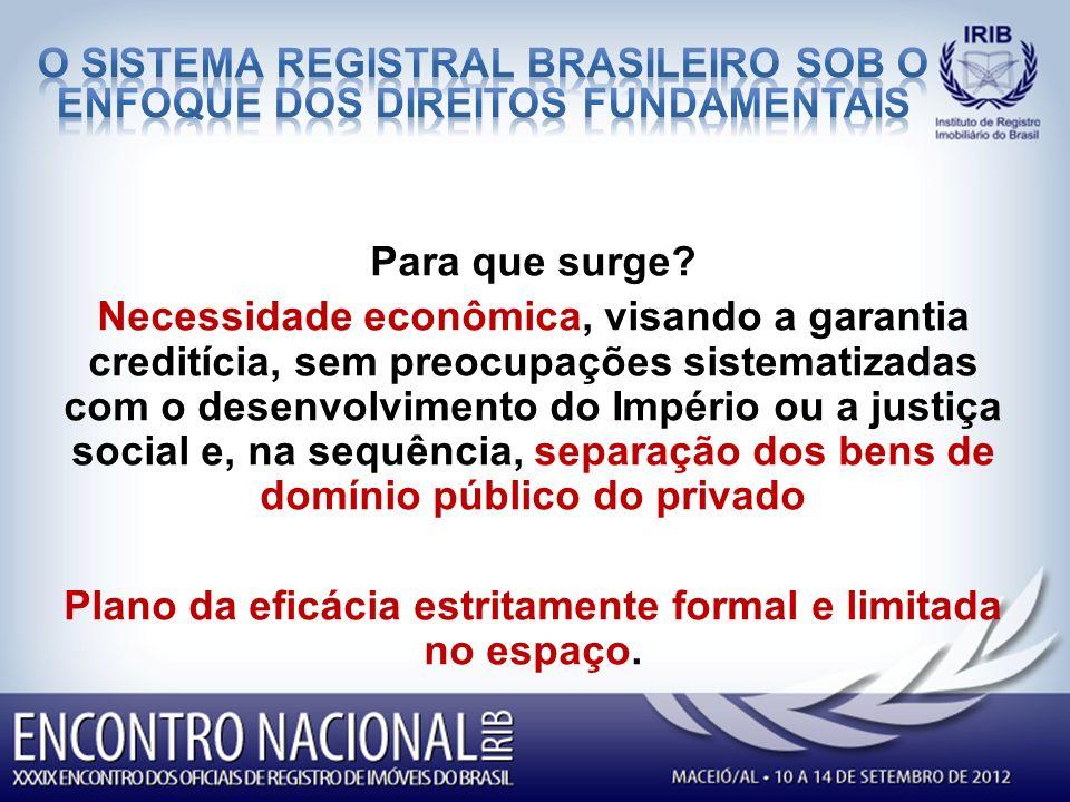 O SISTEMA REGISTRAL BRASILEIRO SOB O ENFOQUE dos direitos fundamentais