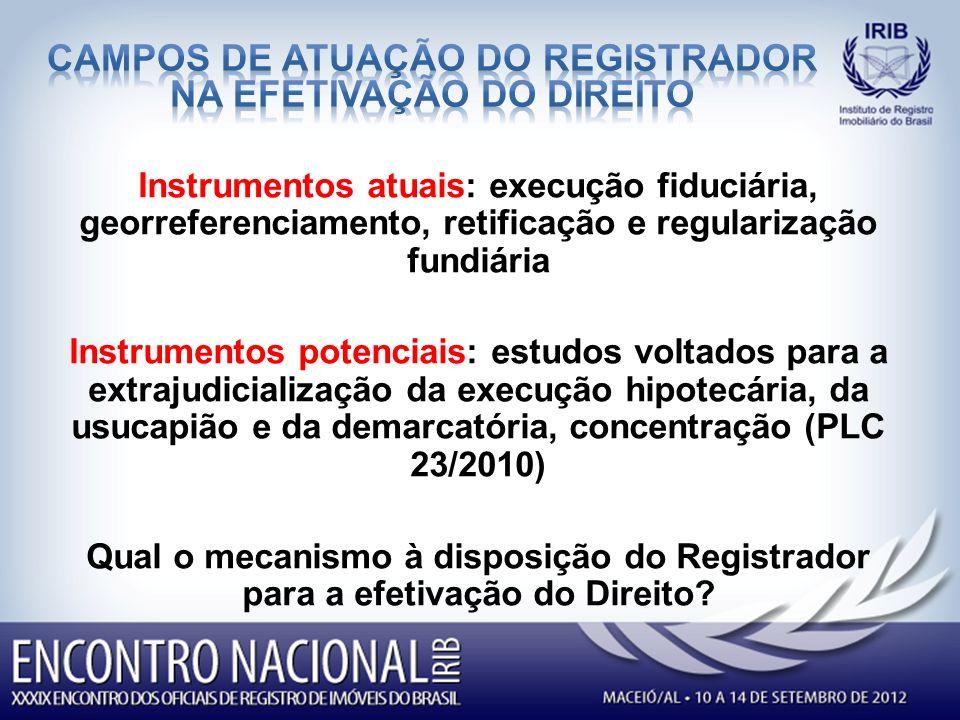 campos de atuação do registrador na efetivação do direito