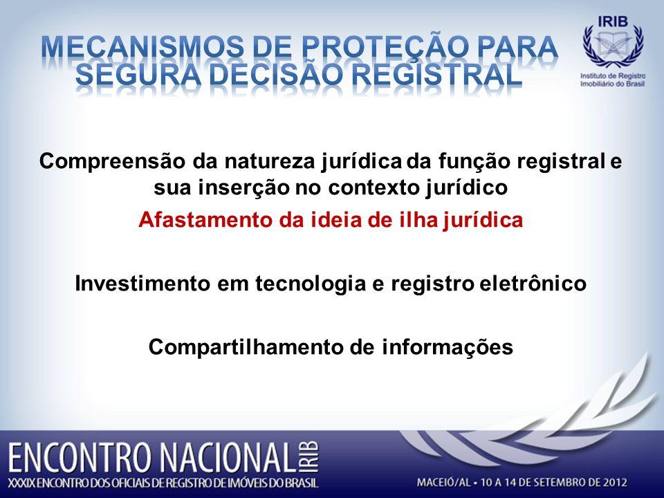 MECANISMOS DE PROTEÇÃO PARA SEGURA decisão registral