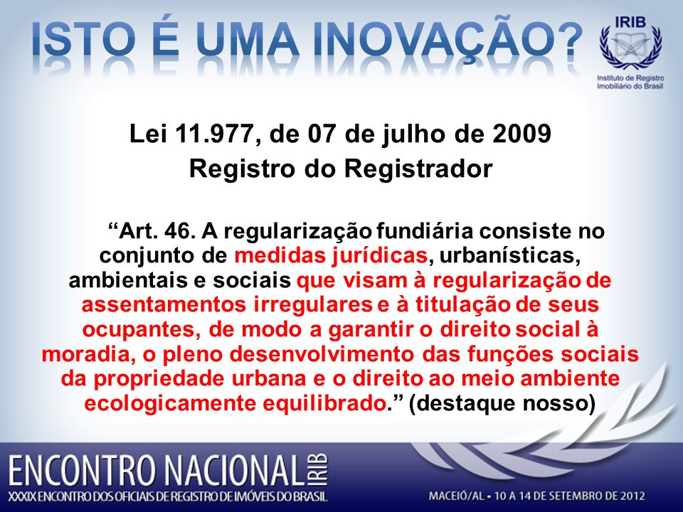 Registro do Registrador