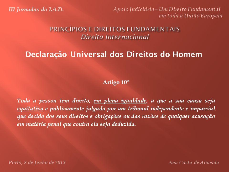 PRINCÍPIOS E DIREITOS FUNDAMENTAIS Direito Internacional