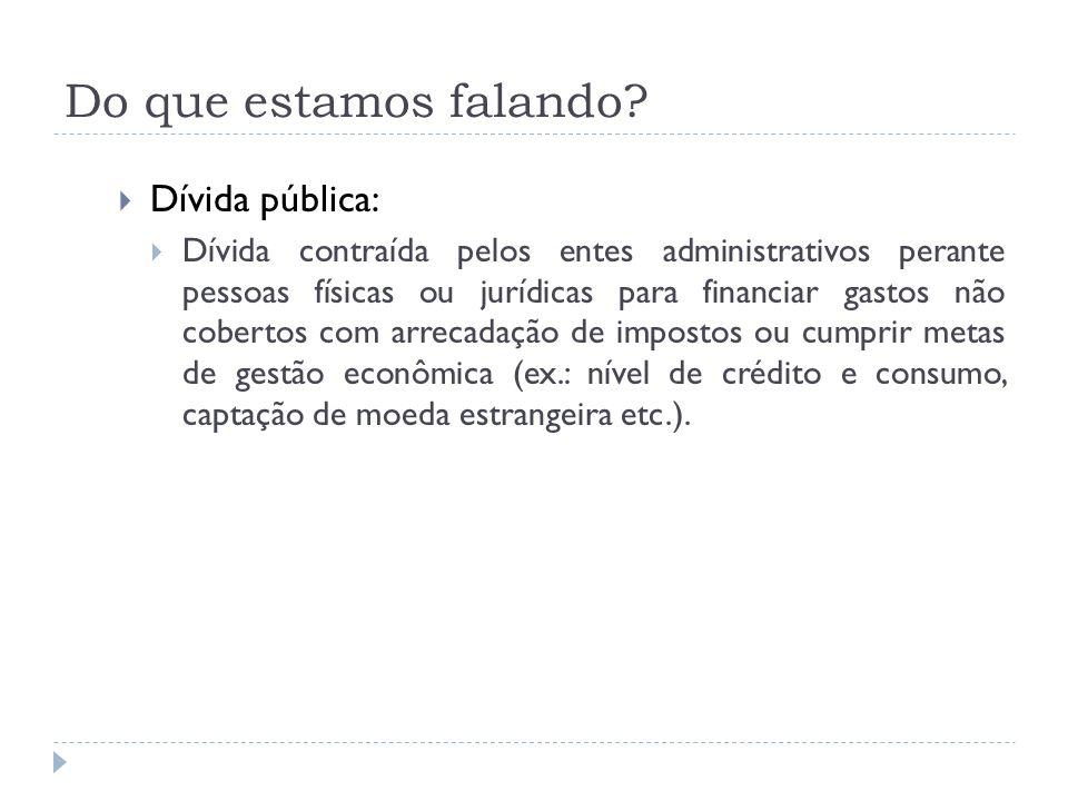 Do que estamos falando Dívida pública: