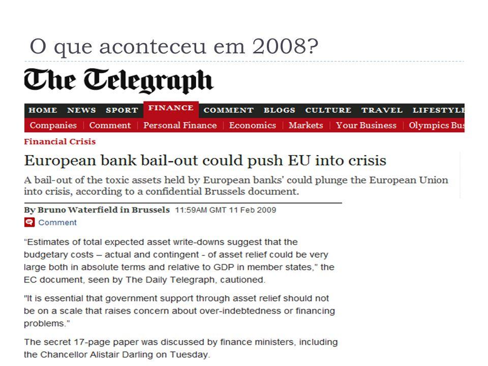 O que aconteceu em 2008