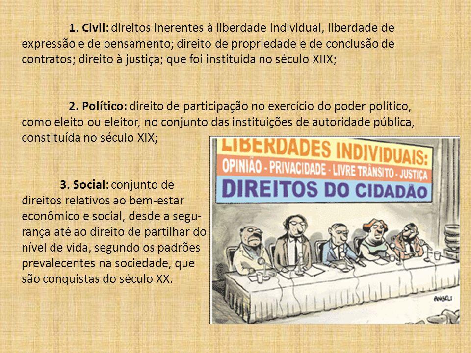 direitos relativos ao bem-estar econômico e social, desde a segu-