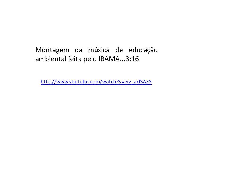 Montagem da música de educação ambiental feita pelo IBAMA...3:16