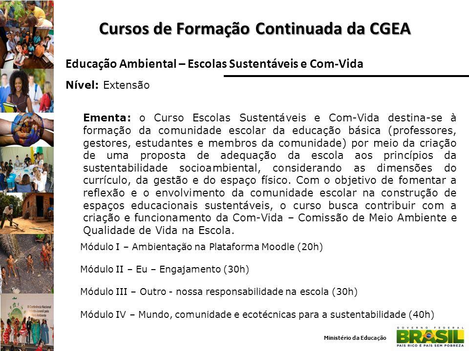 Cursos de Formação Continuada da CGEA