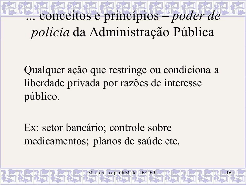 ... conceitos e princípios – poder de polícia da Administração Pública