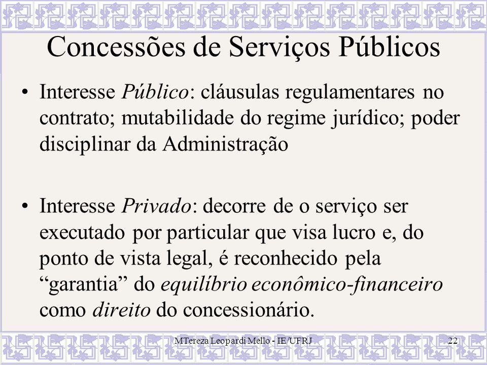 Concessões de Serviços Públicos