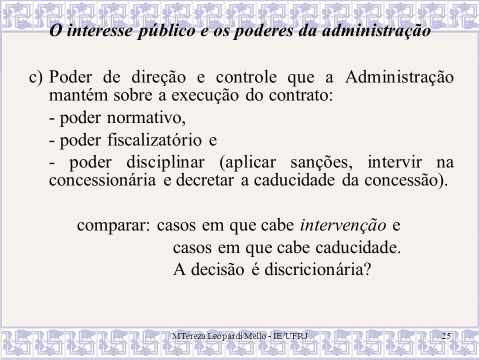 O interesse público e os poderes da administração