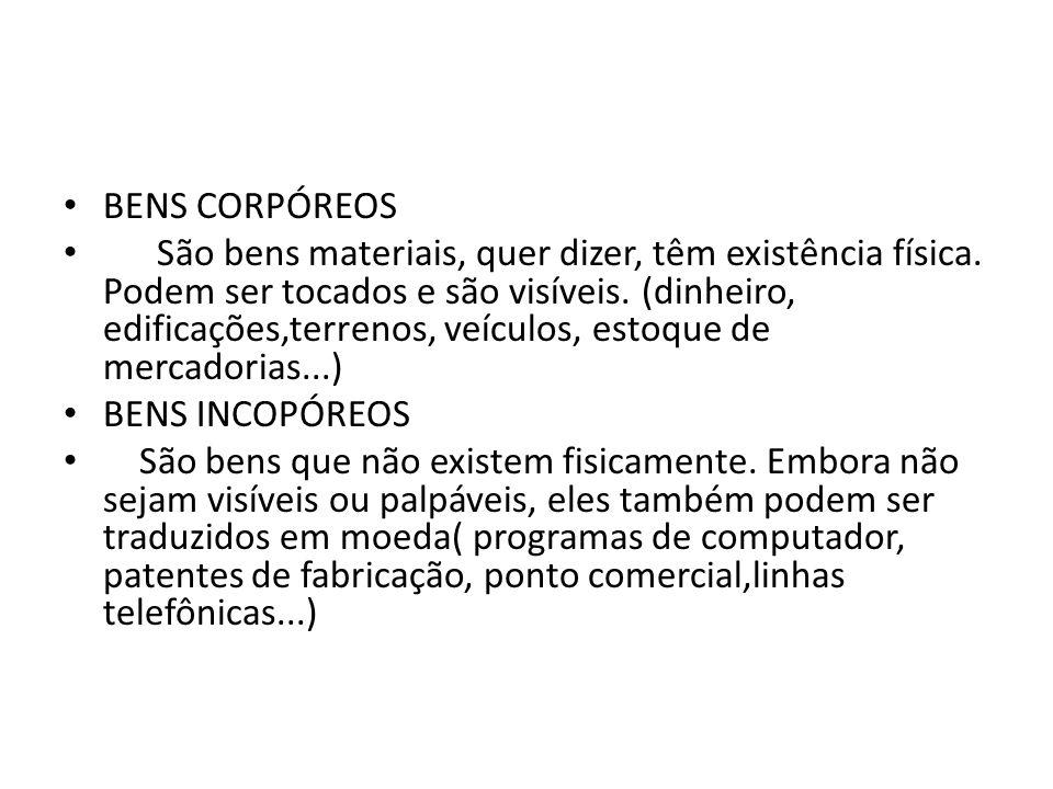 BENS CORPÓREOS