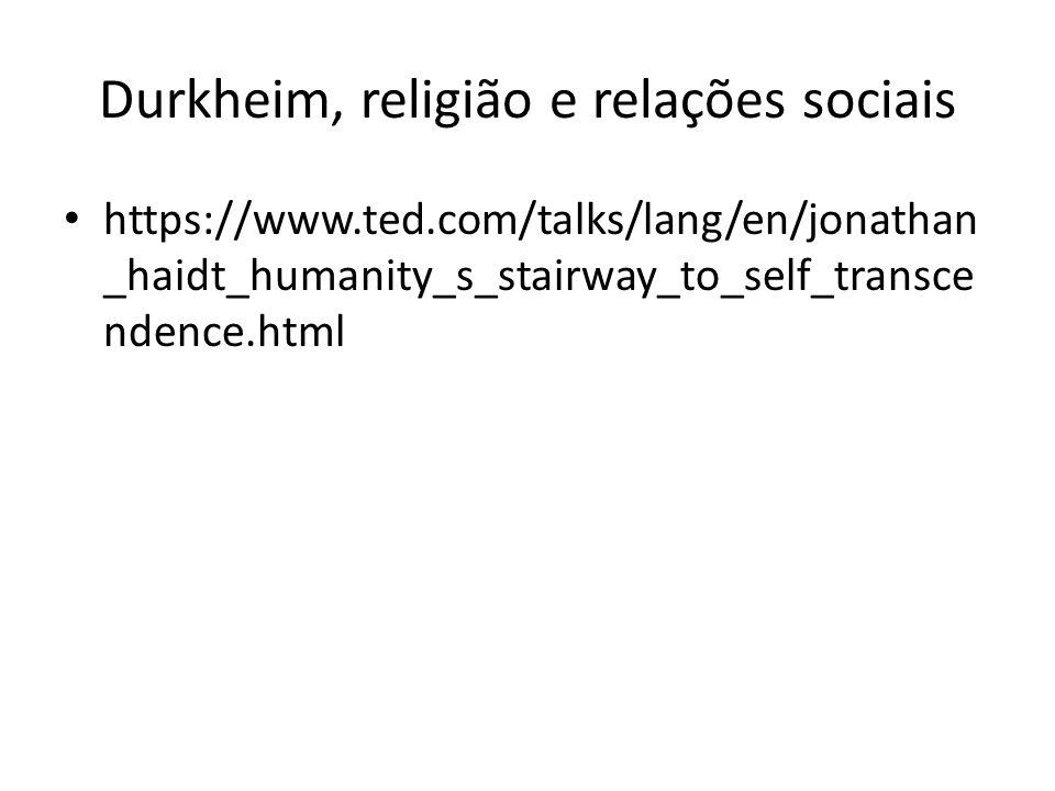 Durkheim, religião e relações sociais