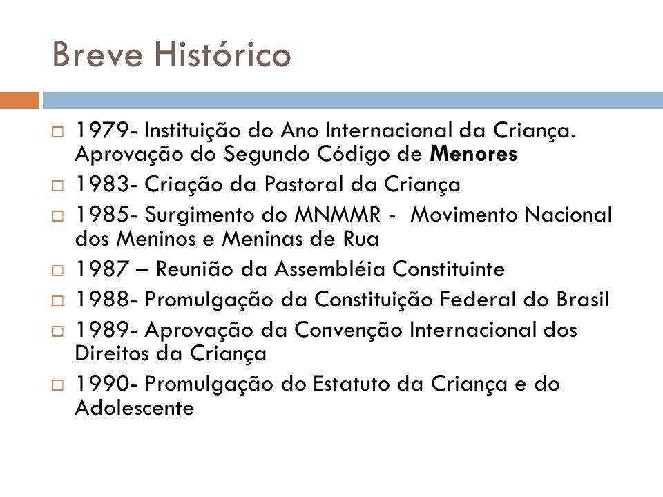 Breve Histórico 1979- Instituição do Ano Internacional da Criança. Aprovação do Segundo Código de Menores.