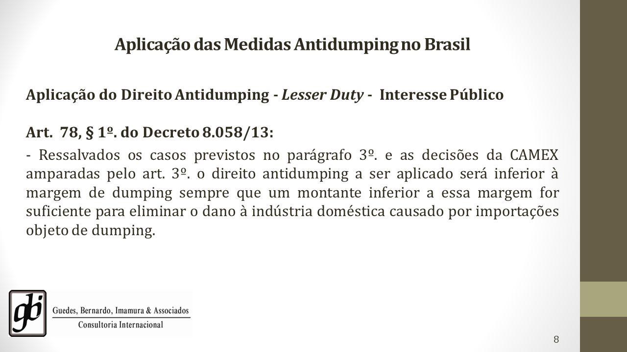Aplicação das Medidas Antidumping no Brasil
