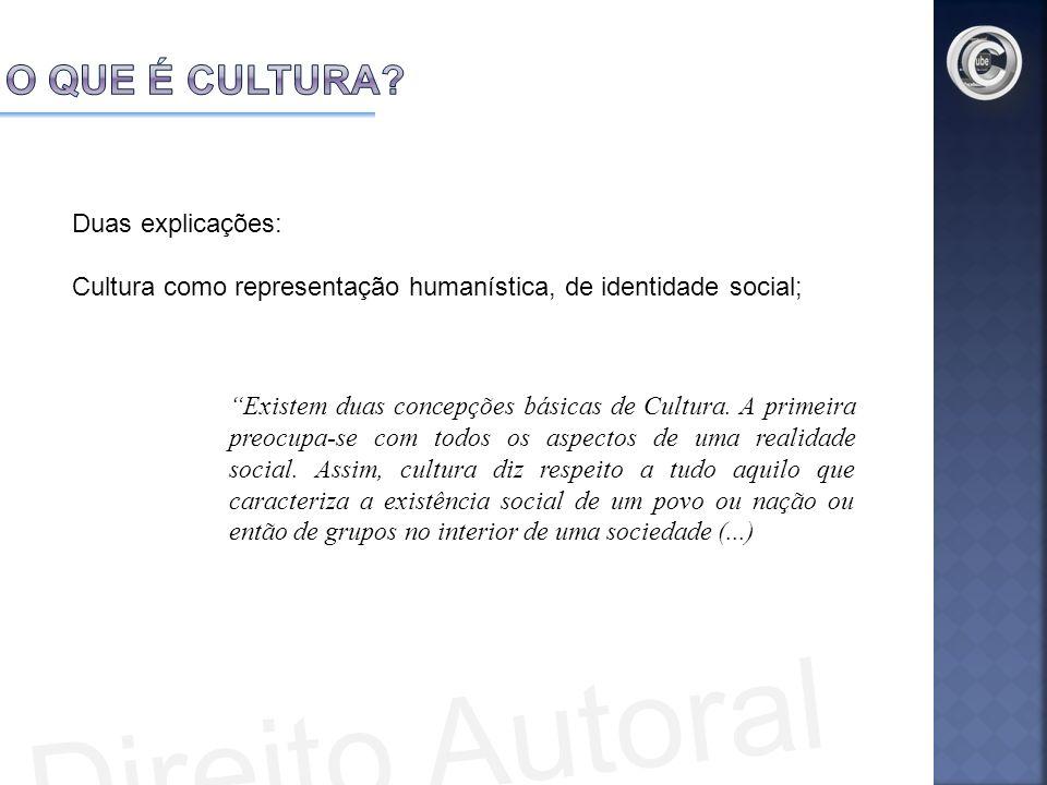 Direito Autoral O que é Cultura Duas explicações:
