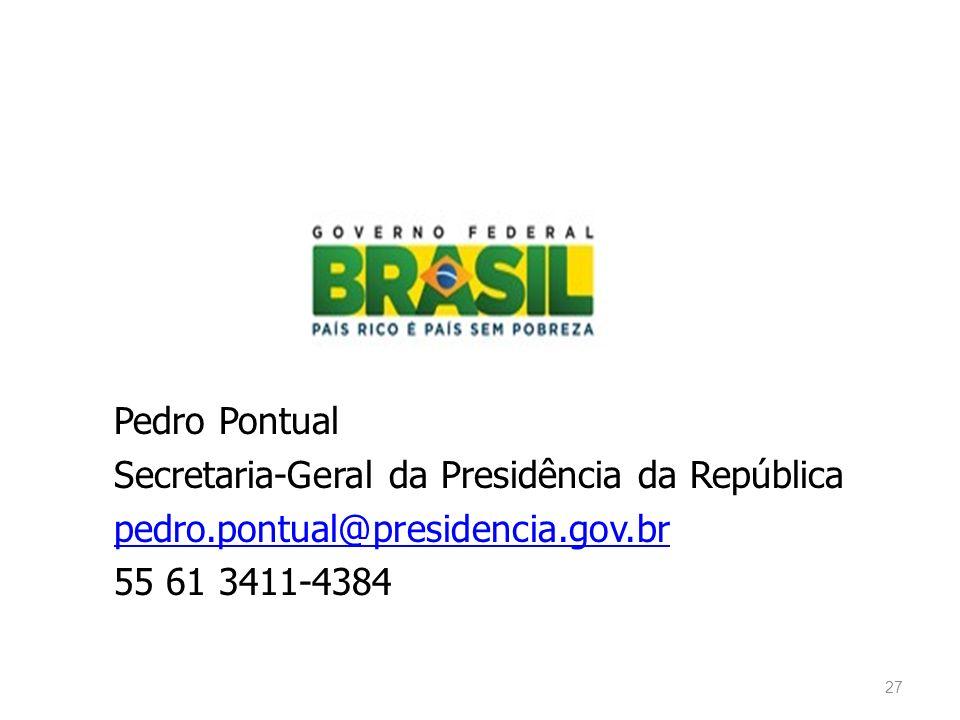 Pedro Pontual Secretaria-Geral da Presidência da República pedro
