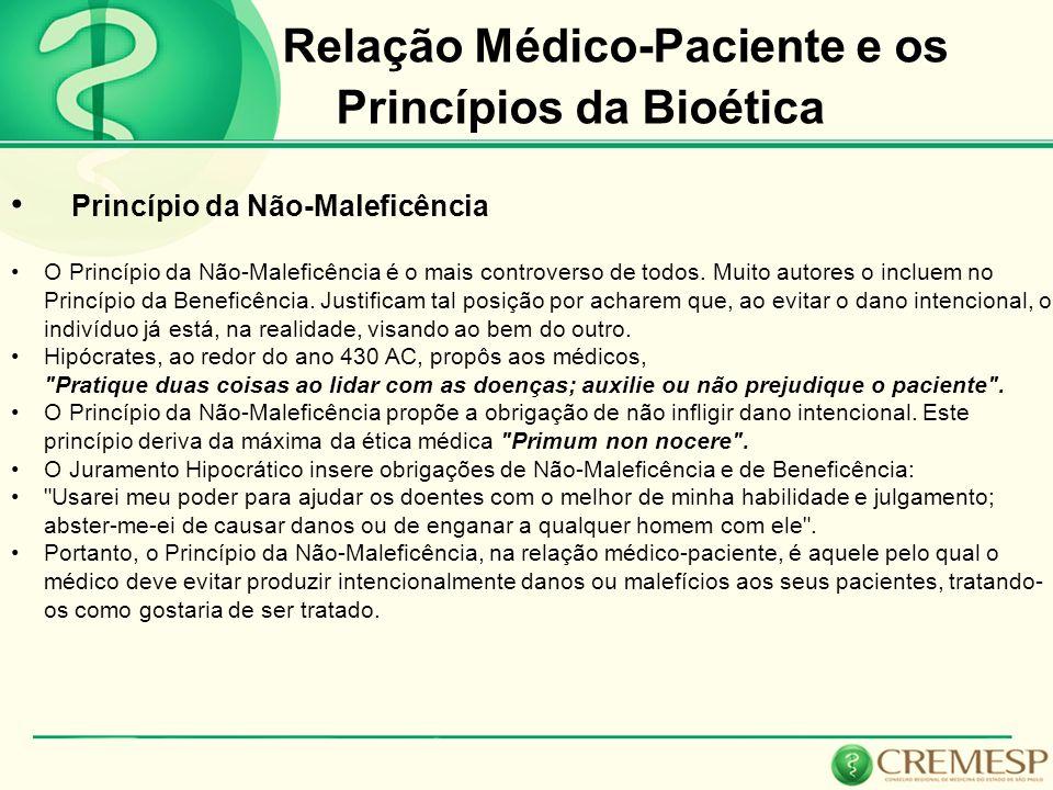Relação Médico-Paciente e os Princípios da Bioética