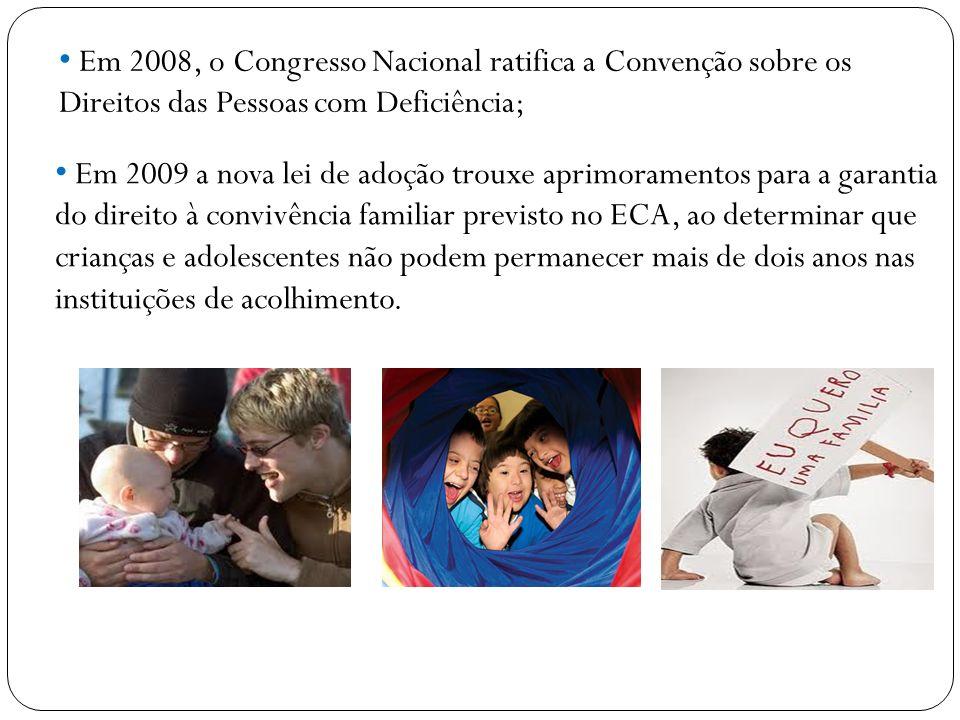 Em 2008, o Congresso Nacional ratifica a Convenção sobre os Direitos das Pessoas com Deficiência;